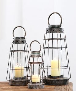Foliage Retro Metalwork Open Lantern Candle Holder