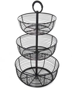 Anatomy 3-Tier Freestanding Round Wrap Fruit Basket