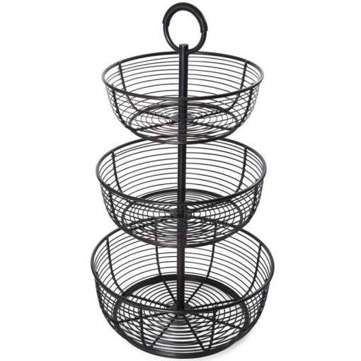 Anatomy 3-Tier Freestanding Round Wrap Fruit Basket