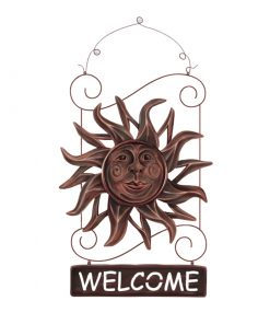Artistic Metal Sun Wall Decor Hanging Bronze