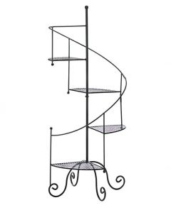 Beatrice Spiral Staircase Plant Stand And Flower Pot Rack With 4 Display Shelves For Indoor Garden Decor