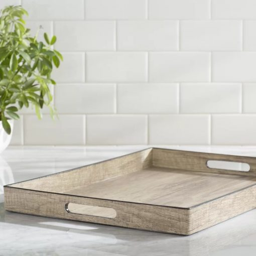 Cactus Country Rustic Weathered Finish Rectangular Nesting Serving Trays