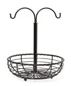 Calypso Rope Metal Fruit Basket with Double Banana Hanger