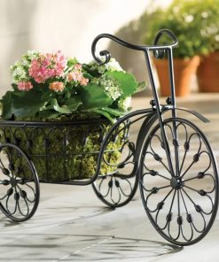 Kocostar 3-Wheel Mini Garden Tricycle Planter Home Decor Iron Plant Stand