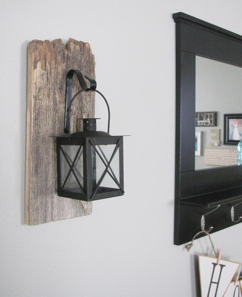 Cuddle Rustic Wall Sconce-Farmhouse Decor Mounted Hanging Metal Lanterns
