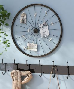 Daisy Wheel Photo Holder Metal Wall Decor