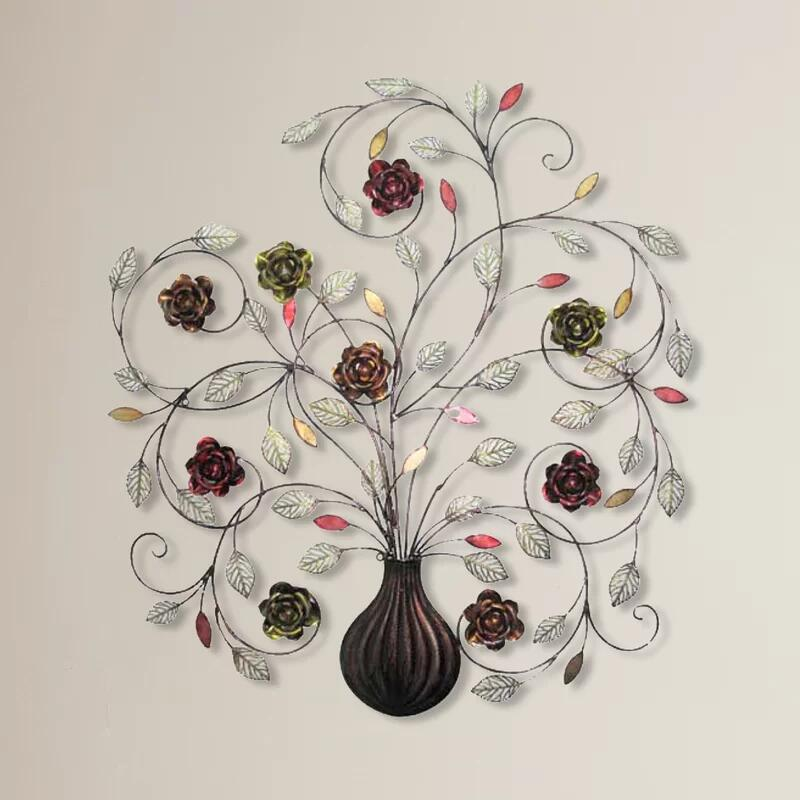 Deluxe Flowers Metal Wall Decor