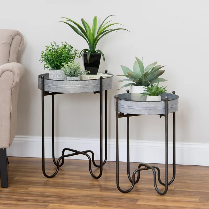 Casetify Set of 2 Metal Planter Tables