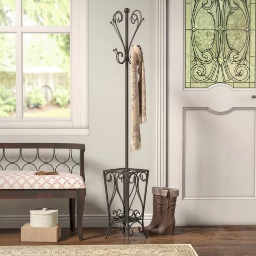 Babette Metal Coat Rack with an Umbrella Hanger Hook