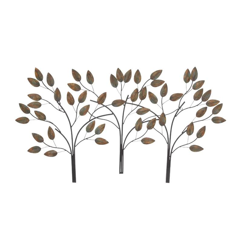 Effa Metal Leaf Branch Wall Art Decor