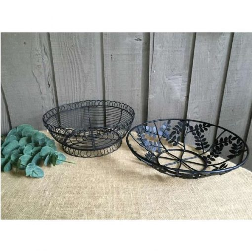 Elodie Vintage Farmhouse Catch-all Metal Fruit Baskets