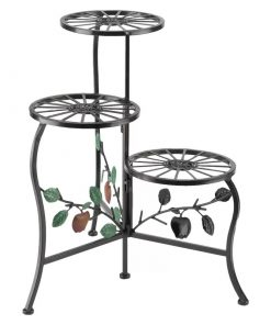 Emelia Multi Tier Wrought Iron Apple Cart Plant Stand