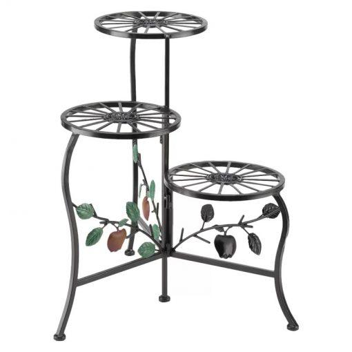 Emelia Multi Tier Wrought Iron Apple Cart Plant Stand