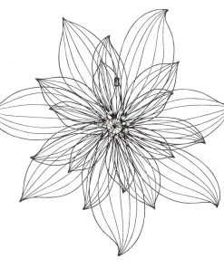 Faux Black Metal Wire Flower Wall Decor