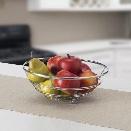 Codify Home Basics Flat Wire Fruit Bowl&basket