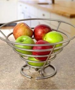 Anatomy Easy To Take Metal Spiral Fruit Bowl&Basket