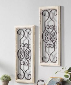 Gaia Vintage Wood and Metal Panel Wall Decor