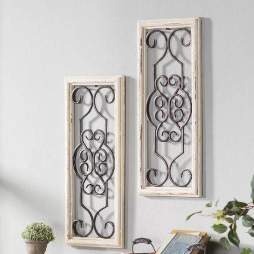Gaia Vintage Wood and Metal Panel Wall Decor