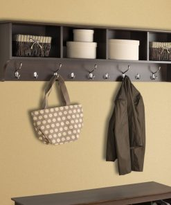 Haley Hanging Entryway 9 Hook Wall Shelf