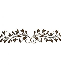 Iris Metal Scroll Leaves Wall Decor