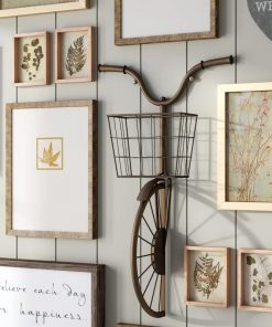 Ismay Vintage Bike Wall Art Decor with Basket