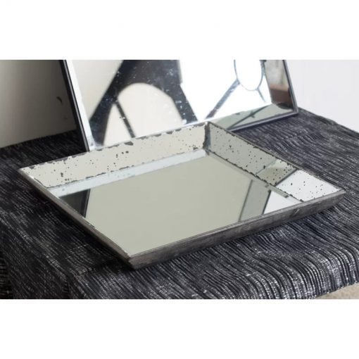 Jackie Wholesale Square With Mirror Inlay Serving Tray