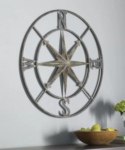 Johnny Round Metal Compass Wall Décor