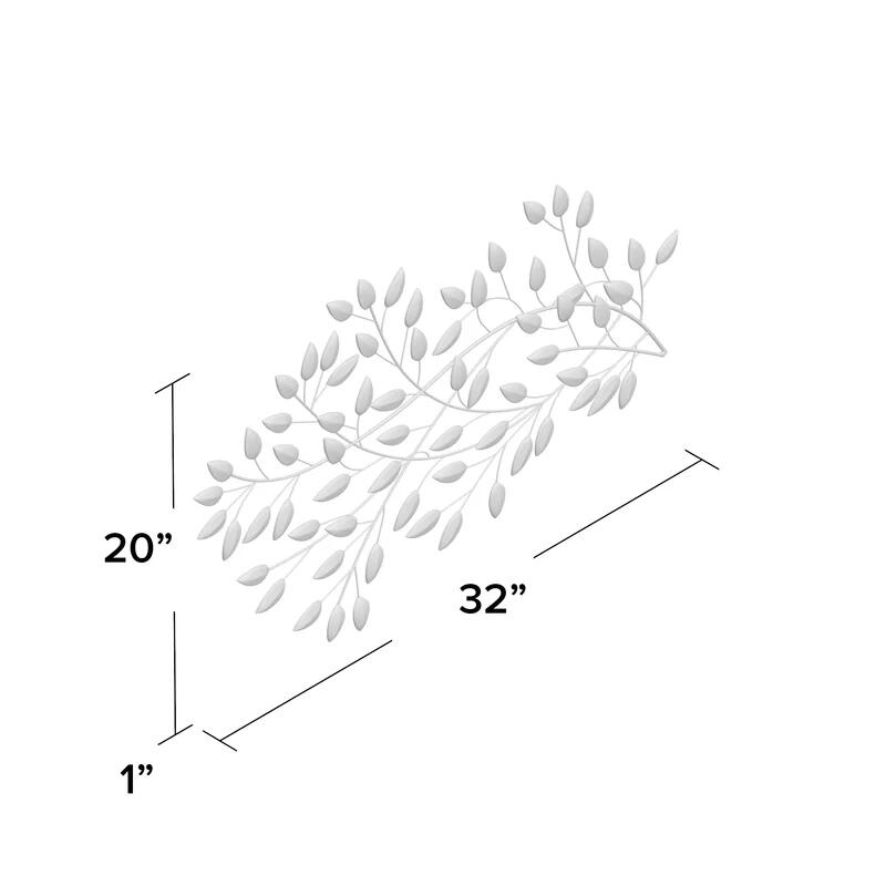 Kasia Flowing Leaves Metal Wall Decor