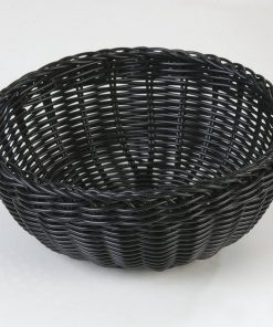 Linear Round Rattan Fruit Bread Fruit Storage Basket Snack Plate