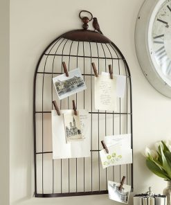 Metal Half Birdcage Photo Holder Wall Hanging