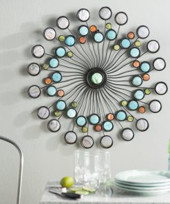 Metal Modern Multi-Colored Starburst Wall Decor