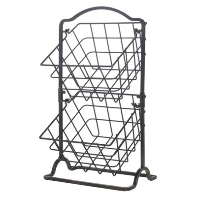 The double basket system provides generous storage space; accommodates dozens of pieces of produce and easily handles weight when fully loaded