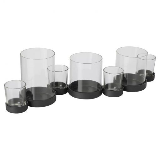 Multiple Hurricane Candle Holder For Pillar And Votive With 7 Candles