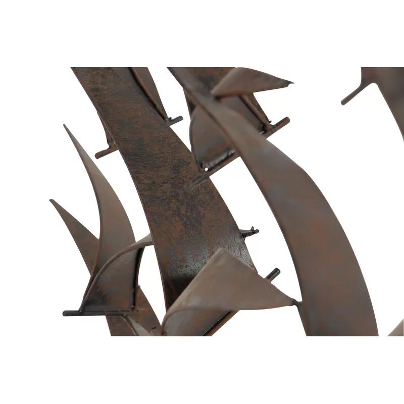 Ocean Metal 3D Flying Birds Wall Art Decor