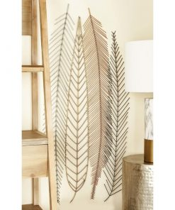 Palm Leaf Metal Wall Art Decor