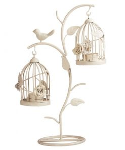 Perasima Iron BirdCage Moroccan Hollow Stand Candlestick