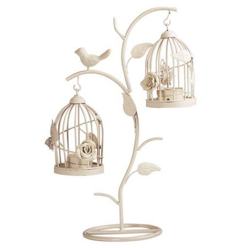 Perasima Iron BirdCage Moroccan Hollow Stand Candlestick