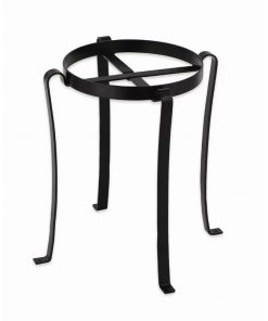 Scalloped Wrought Iron Round Patio Flowerpot Stand