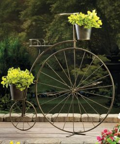 Bridgette Home Decor Old-Fashioned Bicycle Plant Stand