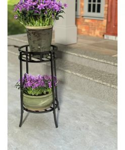 Herbivore Steel Double Panacea Contemporary Plant Stand