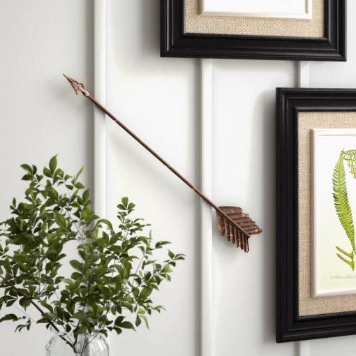 Rustic Distressed Metal Arrow Wall Decor