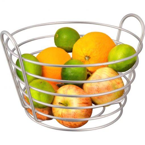 Sally Nickel-plated Openwork With Slanted handles Fruit Basket