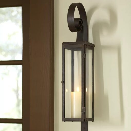 Sante Antique-Style Set Of 2 Modern Art Candle Holder Wall Sconce Plaque