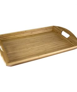 Seraphina wholesale Solid Bamboo Wood Serving Tray