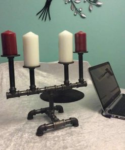 Solstice Industrial Pipe Candle Holders Decor