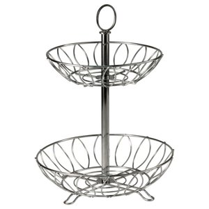 Sutton Matte Finish 2-Tier Metal Wire Fruit Basket