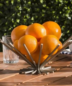 Capri Creative Openwork Stainless Steel Fruit Plate Basket