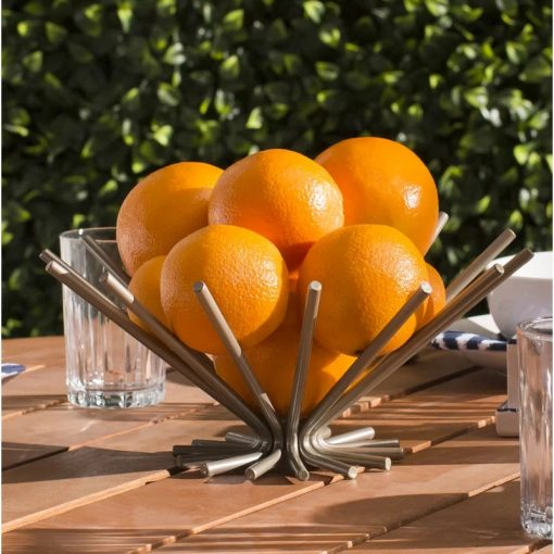 Capri Creative Openwork Stainless Steel Fruit Plate Basket