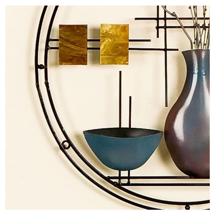 sylvie vase and bowl hanging wall art hand painted finish