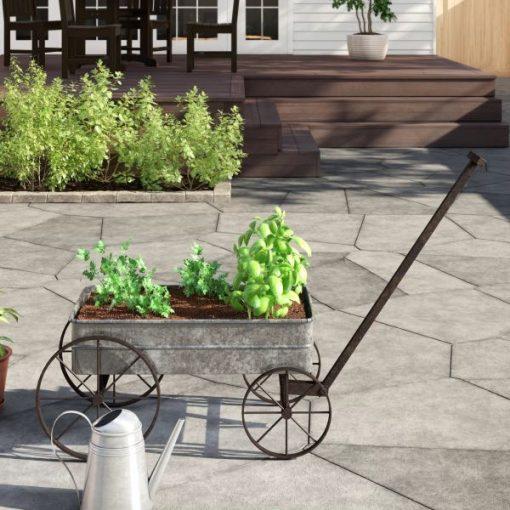 Agate Aluminum Flowers Box Manual Metal Cart Planter